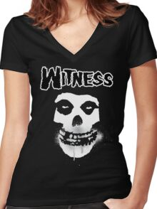 WITNESS Women's Fitted V-Neck T-Shirt