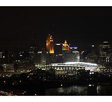 Paul Brown Stadium Night - Cincinnati, Ohio Photographic Print