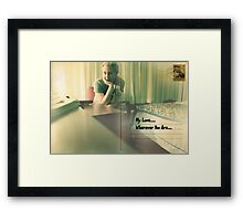 Need You Here Framed Print