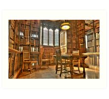 """""""Quiet Please in the Library"""" Art Print"""