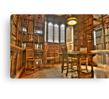 """""""Quiet Please in the Library"""" Canvas Print"""