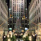 Christmas angels herald the Rockefeller tree by John Banks