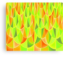Citrus Geometric Pattern Canvas Print