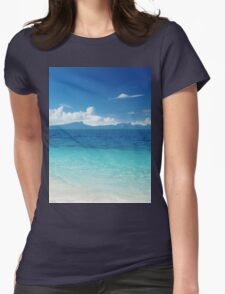 Sandy shores Womens Fitted T-Shirt