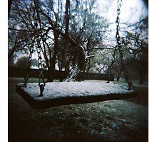 Snowy Swing Photographic Print