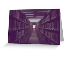 Library Books Greeting Card