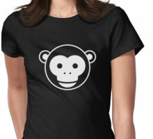 Monkey - Simple Face Ver. 2.0 Womens Fitted T-Shirt