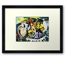 "Jazz no. 1 - The Unforgettable ""French Quarter""  Framed Print"