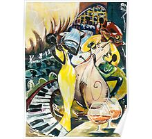 """Jazz No.2  - The Unforgettable """"French Quarter"""" Poster"""