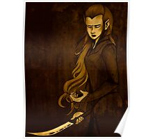 A Promise - Tauriel with Kili's Rune Stone Poster