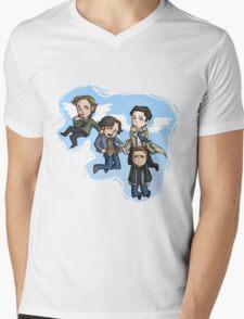 angels and hunters Mens V-Neck T-Shirt