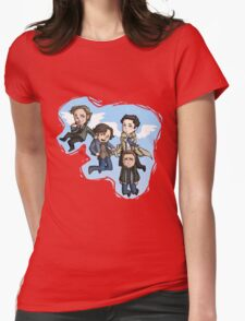 angels and hunters Womens Fitted T-Shirt