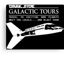 Dark Side Galactic Tours Canvas Print