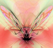 Fly in the Flower - PostCardArt by owlspook