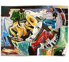 """Jazz no. 3 - The Unforgettable """"French Quarter""""  Poster"""