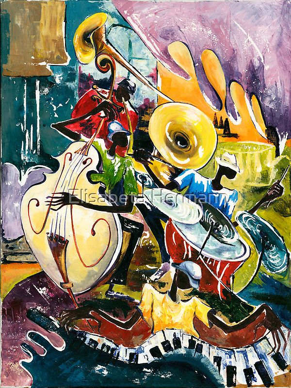 "Jazz no. 4 - The Unforgettable ""French Quarter""  by Elisabeta Hermann"