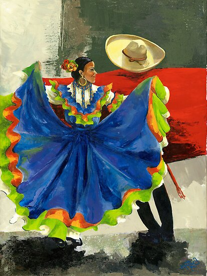 Mexican Dancers - Elegance and Magic by Elisabeta Hermann