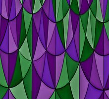 Purple and Green Geometric Scale Pattern by shaneisadragon
