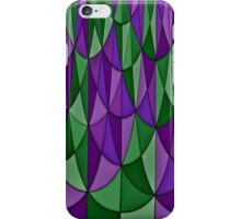 Purple and Green Geometric Scale Pattern iPhone Case/Skin