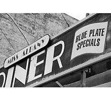 Blue Plate Special Photographic Print