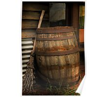 Old Barrel and Broom ~ Monte Cristo Poster