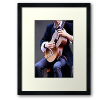 Classical Guitarist Framed Print