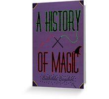 A History Of Magic Greeting Card
