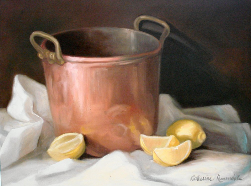Helen's Copper Pot by Cathy Amendola
