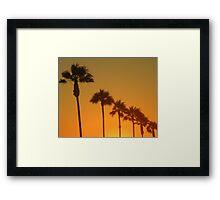 Palms Sunset Framed Print