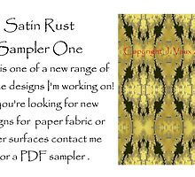 Satin Rust Sampler Not For Sale by scholara