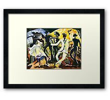 Dancers No. 1 - Saturday Nights Out Framed Print