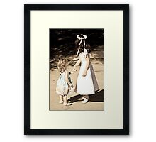 Curls, bows, and dresses Framed Print