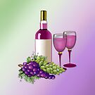 Wine & Grapes Toast by SpiceTree