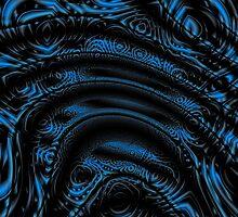 Contours Of Form Blue Black by xzendor7