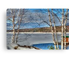 Scenic Views of Lake Sunapee in Winter Canvas Print