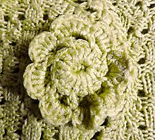 Green Crochet Flower by DeneWest