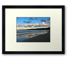 Dusk Swim Beneath the Clouds Framed Print
