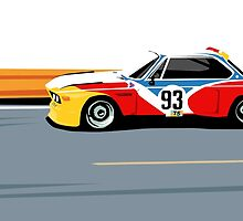 BMW 3.0 CSL Art Car Alexander Calder (1975) by kontra