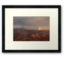 Rainbow over Canyonlands Framed Print