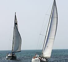 Sailing Lake Michigan by Bruce McEntyre