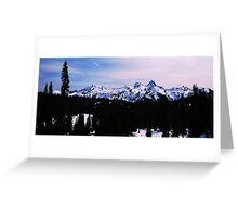 Tatoosh Mountain Range Greeting Card