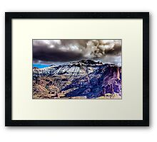 Supes in Winter-1 Framed Print