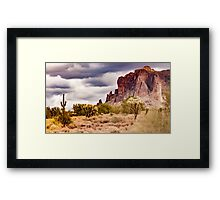 Supes in Clouds Framed Print