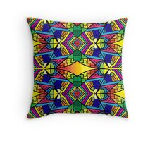 Colorful Psychedelic Pattern 2 Throw Pillow