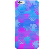 Pukana Hawaiian Pineapple Sunset Blend - Periwinkle and Violet iPhone Case/Skin