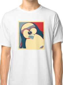 Linux Tux Obama poster red blue  Classic T-Shirt