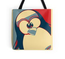 Linux Tux Obama poster red blue  Tote Bag