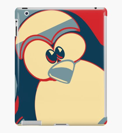 Linux Tux Obama poster red blue  iPad Case/Skin