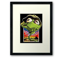 Green and Loathing Framed Print