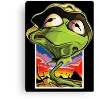 Green and Loathing Canvas Print